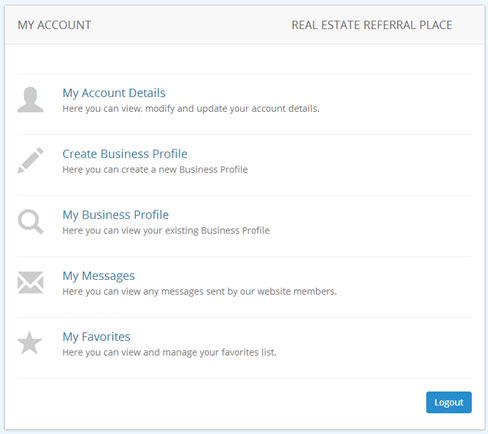 Members Ares Business Profile Control Panel